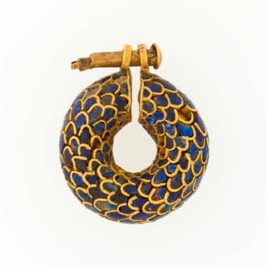 Egyptian Gold and Lapis Lazuli Earring